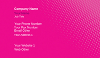 Pink Gradient Business Card Template